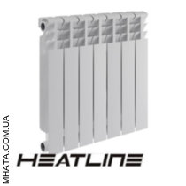 Биметаллический радиатор HEATLINE Ecoterm 500*75, Китай (вес секции 1,28)